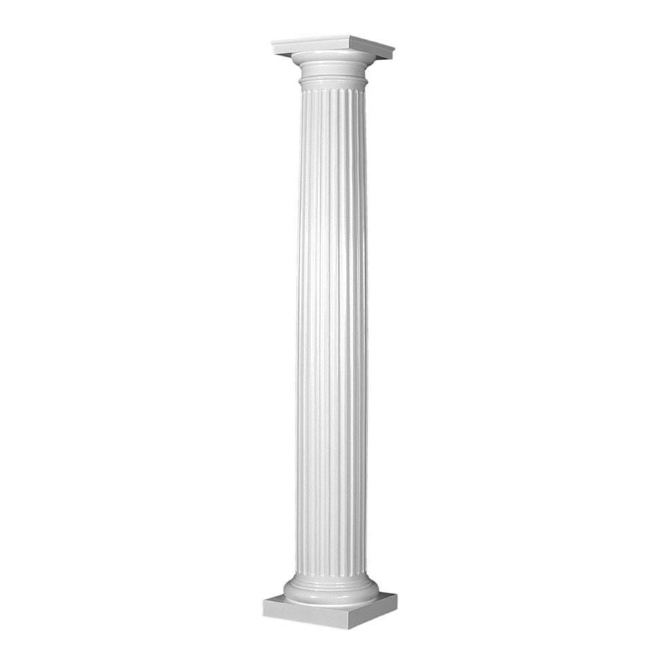 Aluminum column round dalmar for Round columns
