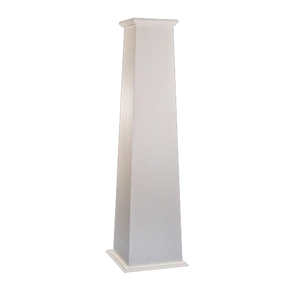 Fiberglass column tapered dalmar for Tapered columns