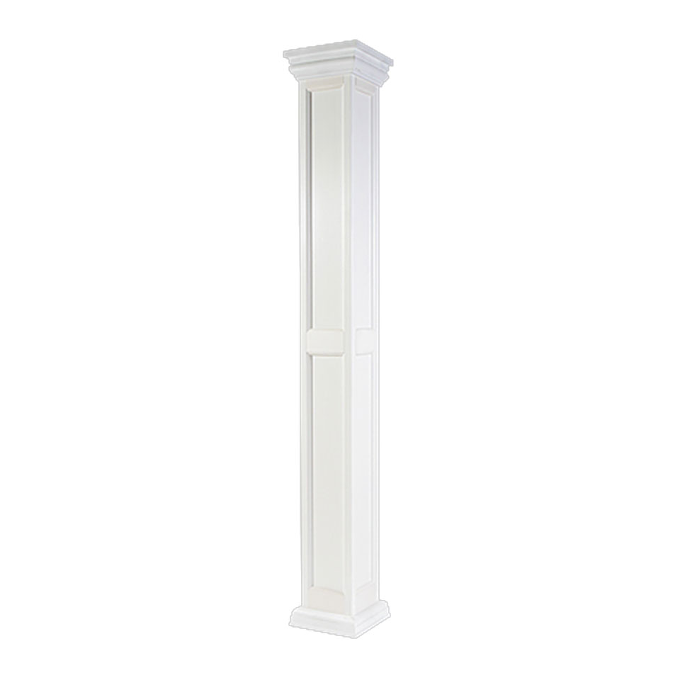 Fiberglass column recessed dalmar for Fiberglass square columns